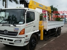 XE TẢI HINO  FL8JTSA 15 TẤN-gắn cẩu Soosan SCS746 7 tấn